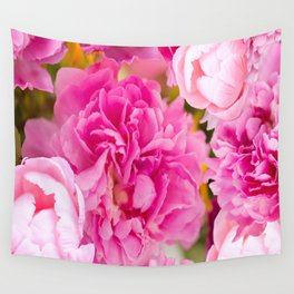 Large Pink Peony Flowers #decor #society6 #buyart Wall Tapestry