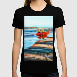 Surf Rescue on beautiful beach T-shirt