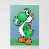yoshi Stationery Cards featuring Yoshi by belindazart
