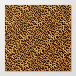 Chic Leopard Fur Fabric Canvas Print