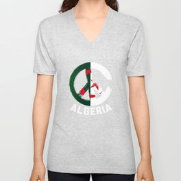 Algeria Peace Sign T Shirt Unisex V-Neck