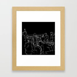 The great Satchmo Framed Art Print