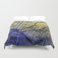 mineral Duvet Covers featuring Mineral Stone by Santo Sagese