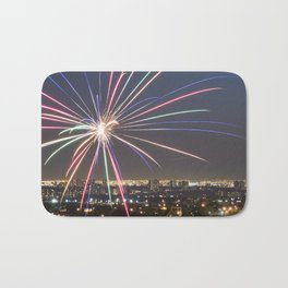 Fireworks. Bath Mat