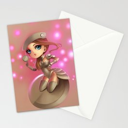 Button Girl  Stationery Cards