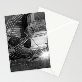Welder working Stationery Cards