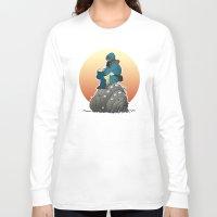 nausicaa Long Sleeve T-shirts featuring Nausicaa & baby Ohmu taking a break... by kamonkey