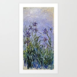 Claude Monet  -  Iris Mauves Art Print