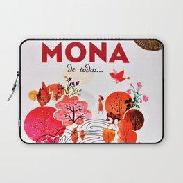 Vintage La Mas Mona de Todas Wine Bottle Label Print Laptop Sleeve