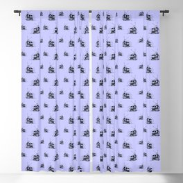 This Skull Is My Home (Snail & Skull) - Pastel Purple & Black Blackout Curtain