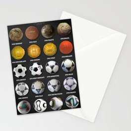 The World Cup Balls Stationery Cards