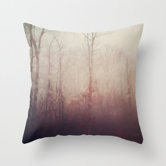 Winter Haze Throw Pillow