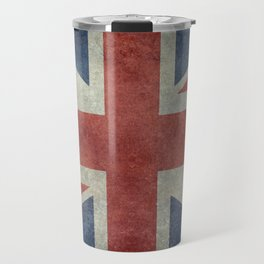 UK Flag, Dark grunge 1:2 scale Travel Mug
