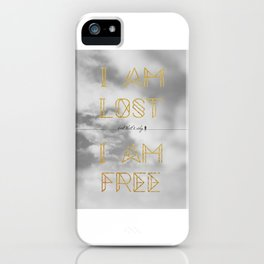 Lost and Free iPhone Case