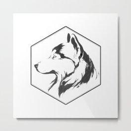Canine Republic : Alaskan Malamute Metal Print