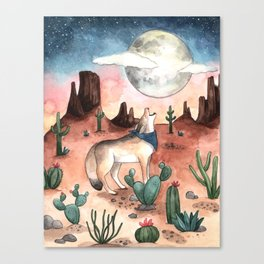 Coyote Moon Canvas Print