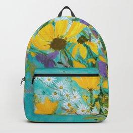 Late Summer wildflowers Backpack