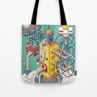 argentina Tote Bags featuring Rasti / Industria Argentina by Martin Orza