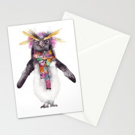 Penguin in a scarf (female) Stationery Cards