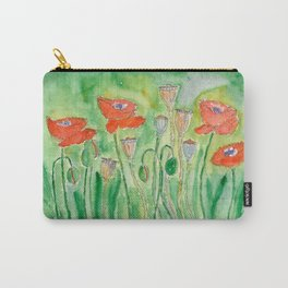 Red Poppy-1 (Papaver rhoeas) Carry-All Pouch