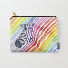 Animal Zebra Rainbow Carry-All Pouch