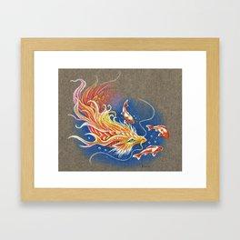 Golden Koi dragon Framed Art Print