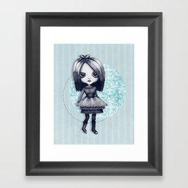 Gothy Girl Framed Art Print