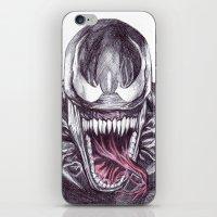 venom iPhone & iPod Skins featuring Venom by DeMoose_Art