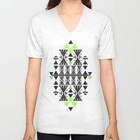 rug V-neck T-shirts featuring :::Space Rug::: by Süyümbike Güvenç
