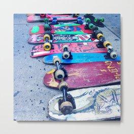 """SKATEBOARD THRIFT"" BY ROBERT DALLAS Metal Print"