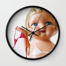 Itsy Bitsy Teenie Weenie Polka Dot Gidget Bikini Wall Clock