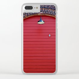 Red Freight Door Clear iPhone Case