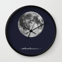 Full Moon on Navy Latin Wall Clock