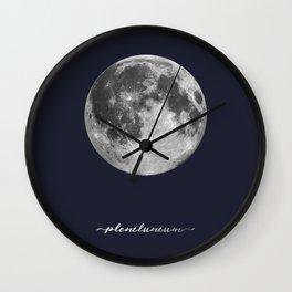 Full Moon on Navy Latin Wall Clock