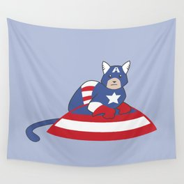 Captain AmeriCAT: The First Catvenger Wall Tapestry