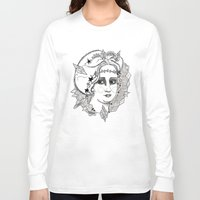 sweden Long Sleeve T-shirts featuring Christina of Sweden by Adrienne S. Price