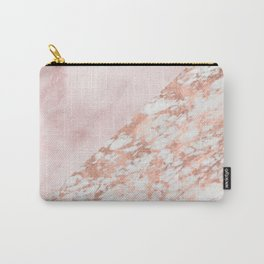 Rose gold & pinks marble Carry-All Pouch