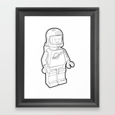 Vintage Lego Spaceman Wireframe Minifig Framed Art Print