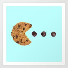 PACKMAN COOKIE Art Print