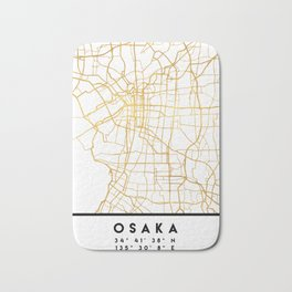 OSAKA JAPAN CITY STREET MAP ART Bath Mat
