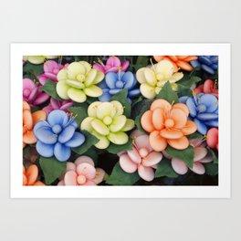 Sugared almonds as petals Art Print