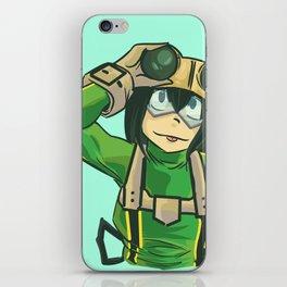 frog girl iPhone Skin