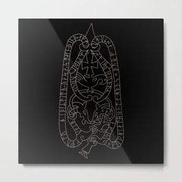 Old Swedish viking runestone Metal Print