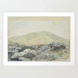 River Acheron, 3rd February 1864, Canterbury, by James Crowe Richmond Art Print
