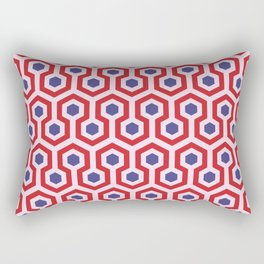 Geometric Pattern - Colours inspired by Hotel Movie Rectangular Pillow
