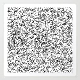 Mandalas pattern Art Print