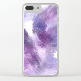 Purple Watercolor Abstract Art Clear iPhone Case