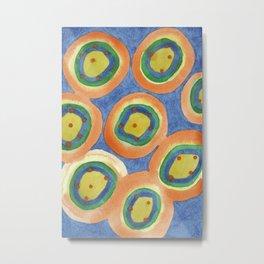 Merry Circles arranged  to a big Circle Metal Print
