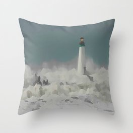 SANTA CRUZ LIGHT HOUSE 011 Throw Pillow