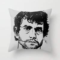 will graham Throw Pillows featuring Will Graham Sketch - Hannibal by Soyarts
